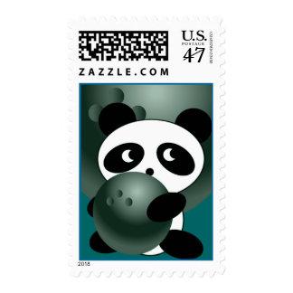 Bowling Panda Stamp