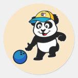 Bowling Panda Sticker
