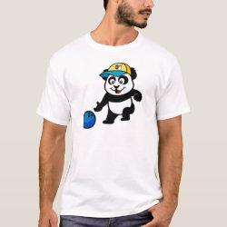 Men's Basic T-Shirt with Bowling Panda design