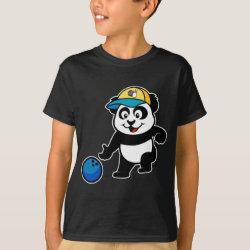 Kids' Hanes TAGLESS® T-Shirt with Bowling Panda design