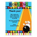BOWLING PARTY 4x5 Flat Thank you note 4.25x5.5 Paper Invitation Card
