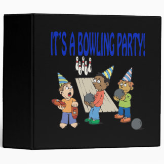 Bowling Party Binder
