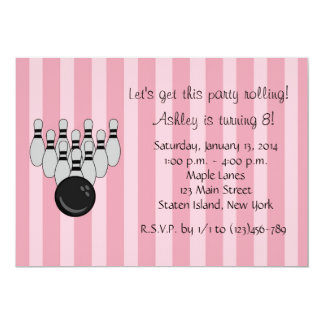 Bowling Party Birthday Personalized Invitation