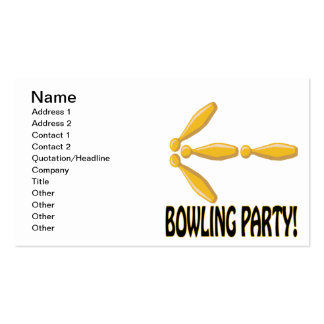 Bowling Party Business Card