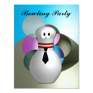 Bowling  Party Card