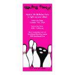BOWLING PARTY COSMIC ANY AGE BIRTHDAY 4X9 INVITATION