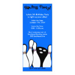 BOWLING PARTY COSMIC ANY AGE BIRTHDAY 4X9 INVITE