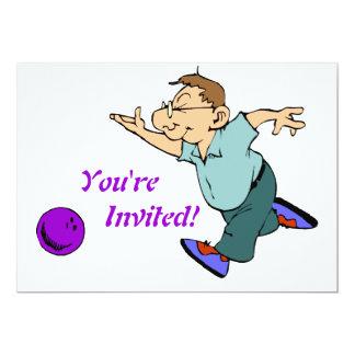 Bowling Party Design Custom Invitation