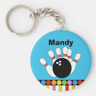 BOWLING PARTY Favor or Name Tag KEYCHAIN