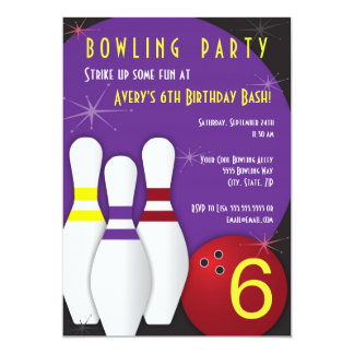 Bowling Party Invitation 5 x 7