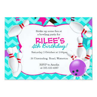 bowling party invitations  announcements  zazzle, Party invitations
