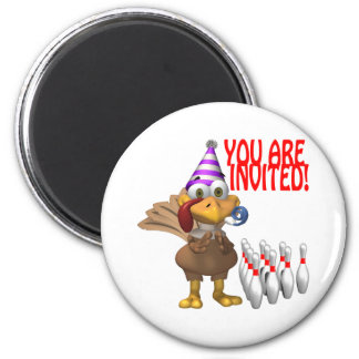 Bowling Party Invitation Magnet