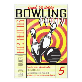 Bowling Party Invitation - Red