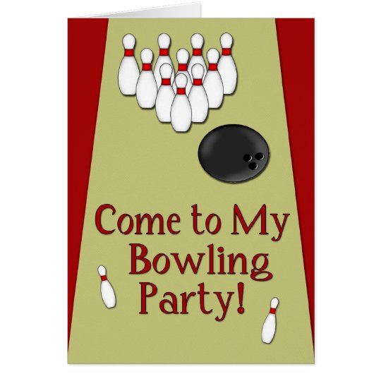 Bowling Party InvitationCard Card
