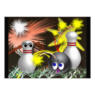 Bowling Party Invitations Custom Invites