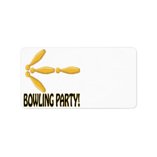 Bowling Party Label