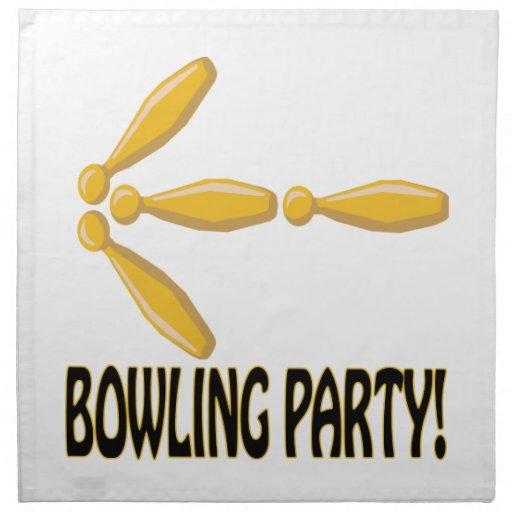 Bowling Party Printed Napkins