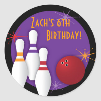 Bowling Party Sticker