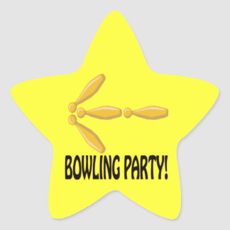 Bowling Party Star Sticker