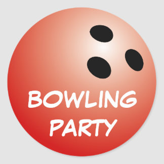 Bowling party stickers