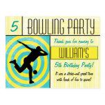 Bowling Party Thank You Postcard