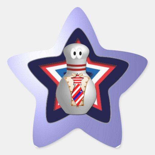 Bowling Patriot Sticker