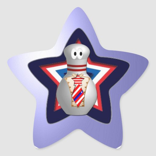 Bowling Patriot Star Stickers
