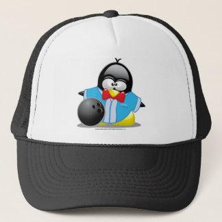 Bowling Penguin Trucker Hat