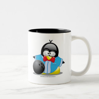 Bowling Penguin Two-Tone Coffee Mug