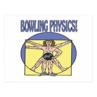 Bowling Physics Postcard