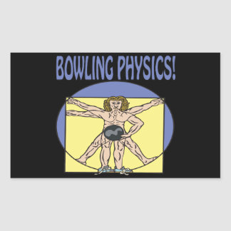 Bowling Physics Rectangular Sticker