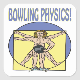 Bowling Physics Square Sticker