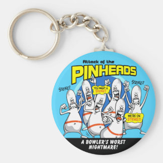 Bowling Pinheads Attack Keychain