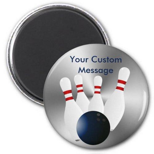 Bowling pins 10 Pin Bowling Ball Custom Magnet