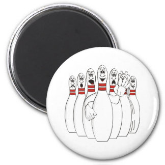 Bowling Pins 2 Inch Round Magnet