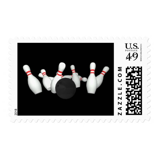Bowling Pins: 3D Model: Postage Stamps