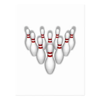 Bowling Pins: 3D Model: Postcard