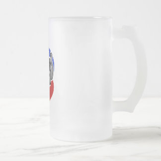 Bowling Pins and Ball 16 Oz Frosted Glass Beer Mug