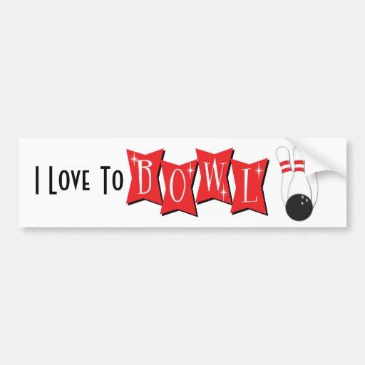Bowling Pins and Ball Bumper Sticker