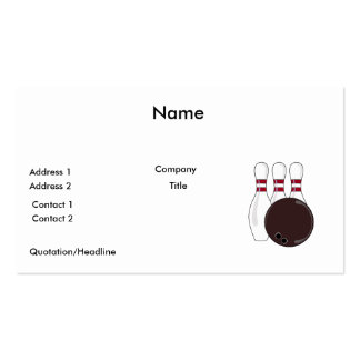 bowling pins and ball vector design business card templates