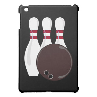 bowling pins and ball vector design iPad mini case