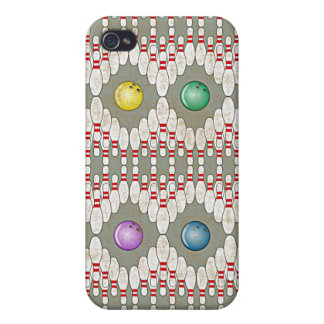 BOWLING PINS & BALLS DESIGN CASE FOR iPhone 4