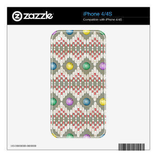 BOWLING PINS & BALLS DESIGN DECALS FOR iPhone 4S