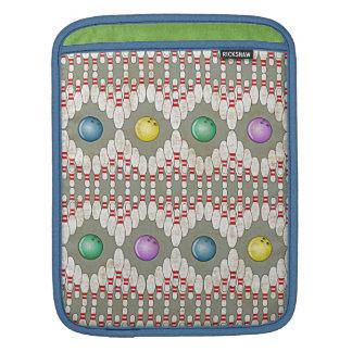 BOWLING PINS & BALLS DESIGN iPad SLEEVE