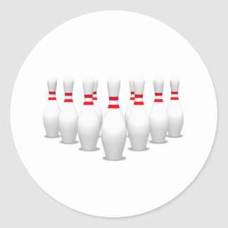 Bowling Pins: Classic Round Sticker