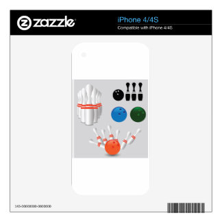 bowling pins decal for the iPhone 4S