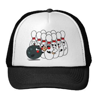 Bowling pins trucker hat