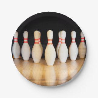 Bowling Pins Paper Plates
