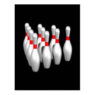 Bowling Pins Postcard