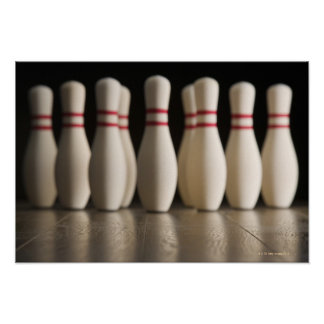 Bowling Pins Print